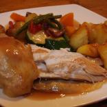 Roast Chicken and Vegetables all roasted in Ownsworth's Rapeseed Oil