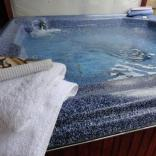 Relax in our private hot tub